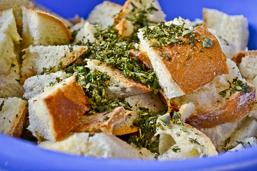 Herb-and-Leek Bread Pudding 12