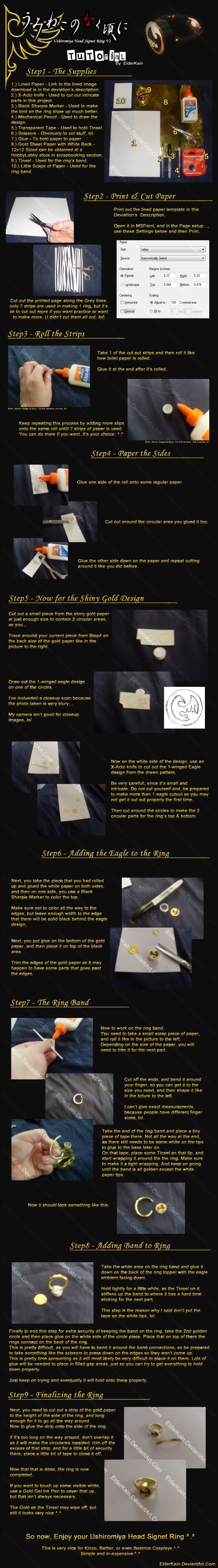 How to Make Ushiromiya Head Signet Ring V2