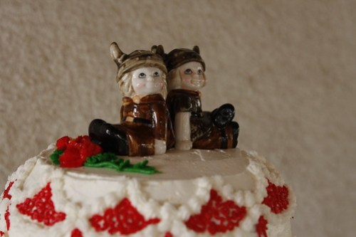 Viking cake topper..