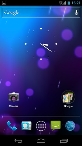 home screen galaxy nexus