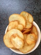 Fresly fried chips at Sal y Limon