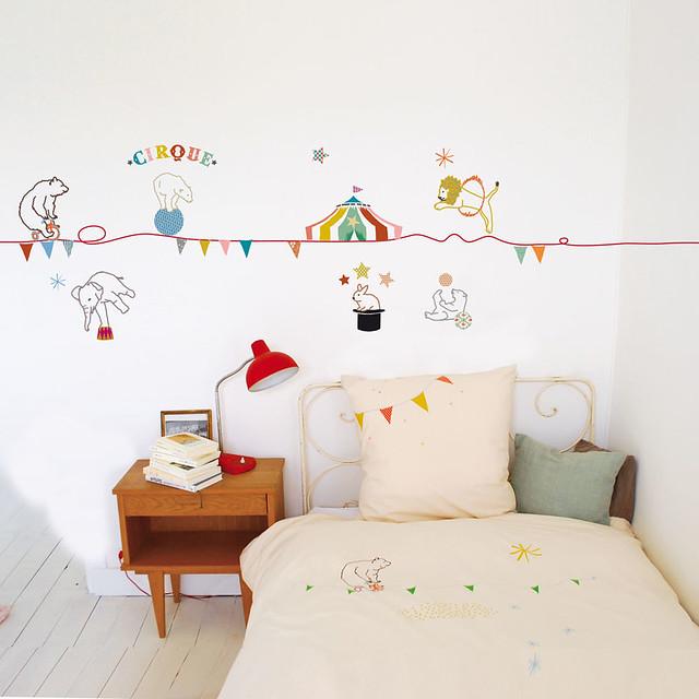 Mimi Lou children's circus wall sticker 1