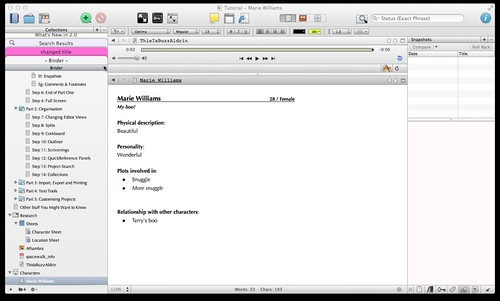 Scrivener Tutorial