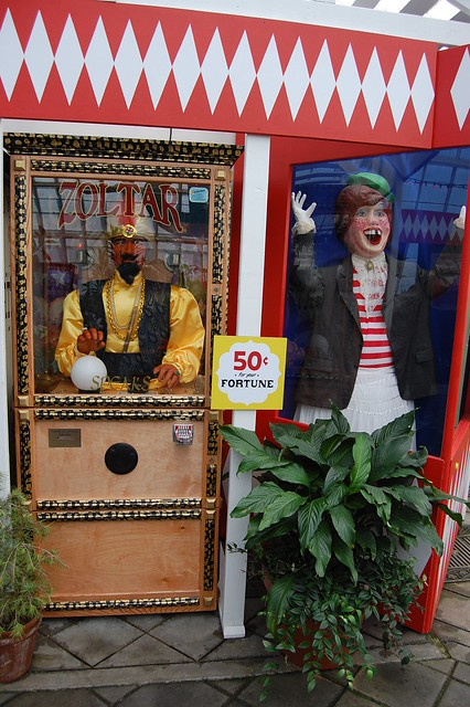 Zoltar and a Laughing Sal