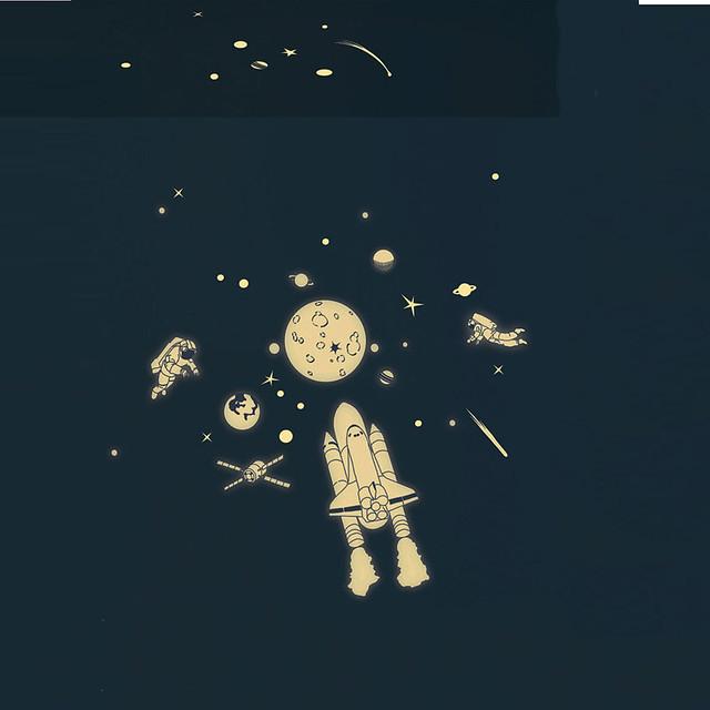 Mimi Lou, glow in the dark, kids space wall stickers
