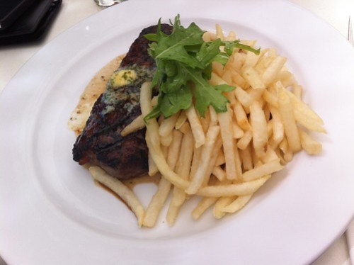 Steak & fries at Table 78
