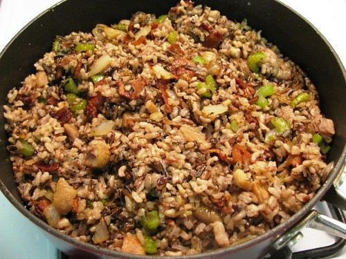 Wild Rice Stuffing with Chestnuts