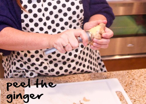 peel the ginger with a spoon