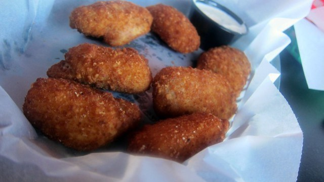 basket of jalapeno poppers at wing factory