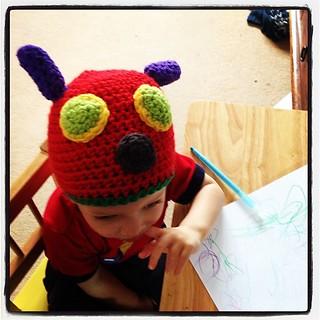 The #hungrycaterpillar #myboshi #crochet hat