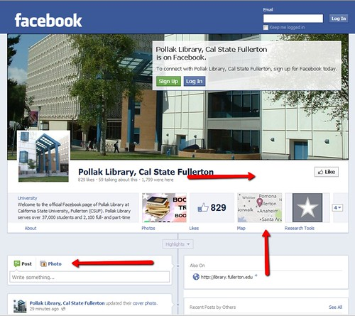 Facebook Page Redesign: Public Users