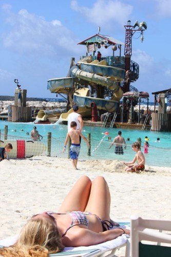Castaway Cay beach and slide
