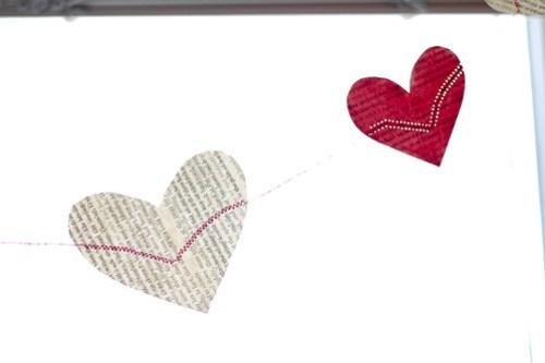 DIY Heart Garland