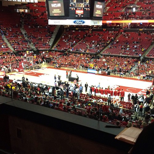 Terps v UVA from the suites