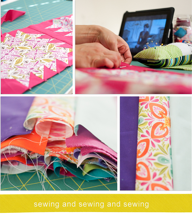 sewing and sewing and sewing