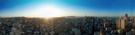 san francisco sunset panorama