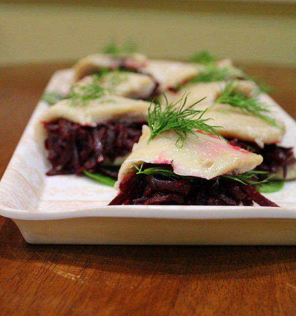 herring with beets