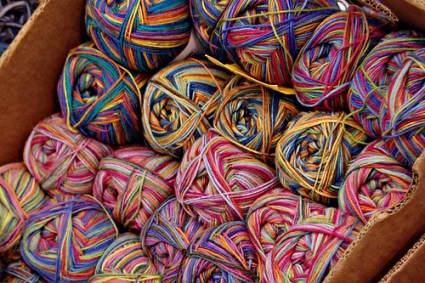 Yarn at Burghausen Market