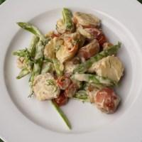 Spring Potato Salad with Horseradish Aioli