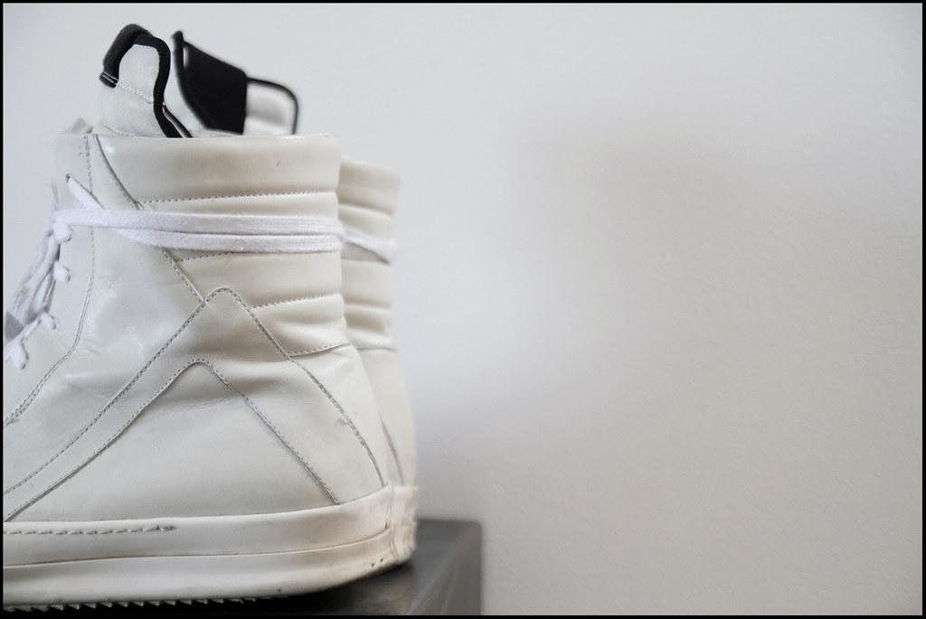 Tuukka13 - Sneak Preview - My New Rick Owens High Top Sneakers in White - 2