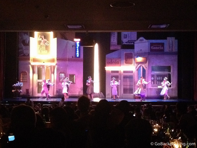The opening scene from the Tango Porteno dinner show
