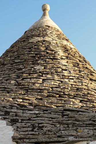 A trullo's cone roof, Alberobello, Puglia