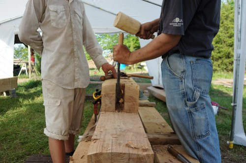 Scarf joint with mortise