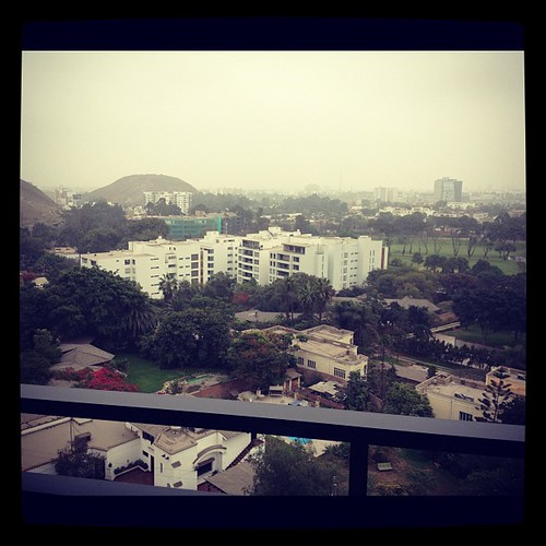 View from my hotel in Lima, Peru.