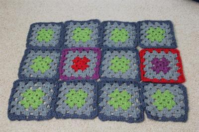 Progress on my Granny blanket...