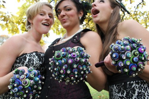 The ladies- with button bouquets