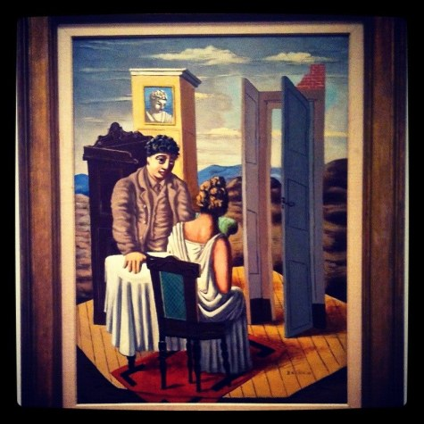 "Giorgio de Chirico's ""Conversation among the Ruins"" at the National Gallery of Art (Instagrammed photo)- February 2012"