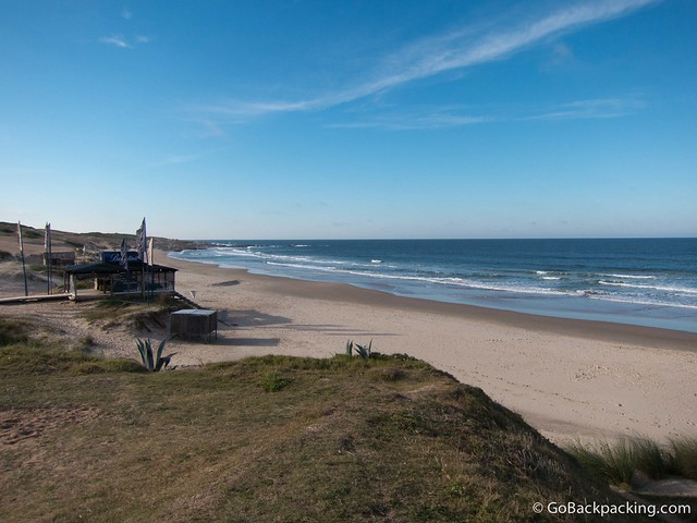 The main beach in Punta del Diablo