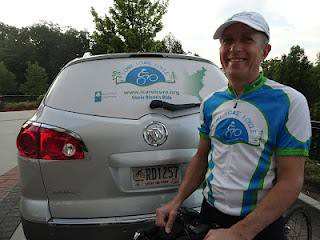 Glenn Hirsch, M.D., averages 75 miles per day in his quest to bike the entire East Coast Greenway to benefit pediatric cancer research.