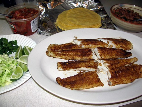 Jeff's Tilapia Grilled Fish Tacos