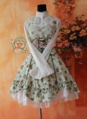 Infanta Halter Wrapping Tape Lace Up Lolita Dress