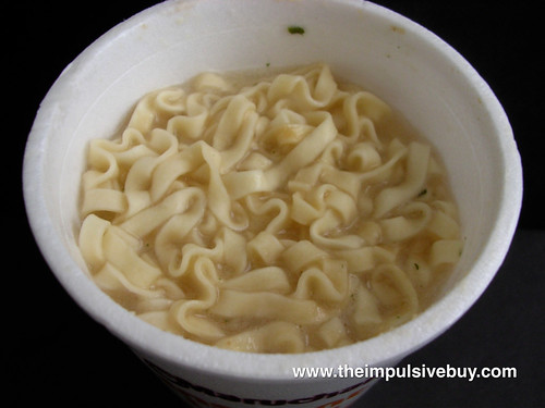 Maruchan Creamy Alfredo Instant Lunch Ramen Noodles Closeup