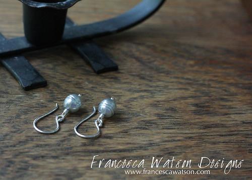 Pearl Drop Earrings by Francesca Watson Designs