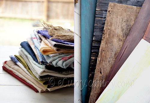 boards & fabric diptych