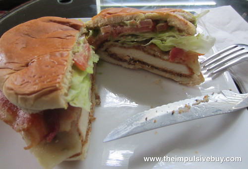 Wendy's Spicy Guacamole Chicken Club Center