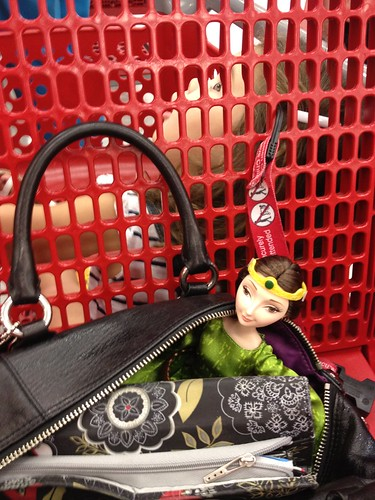 Elinor with me at Target