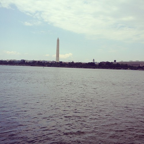 Monument from hains point. Almost 13 miles in.