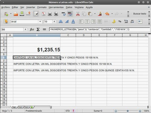 Número a Letras.ods - LibreOffice