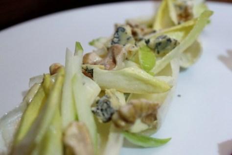 ENDIVE SALAD  shaved apples, walnuts, fennel, roast apple vinaigrette