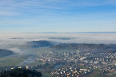 Koniz seen from Gurten mountain by /Bas