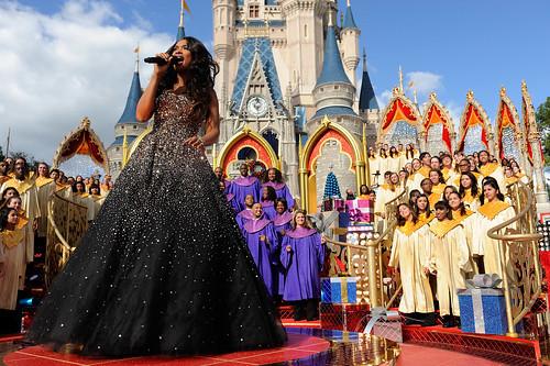 Jennifer Hudson tapes Christmas Day TV special at Walt Disney Wo