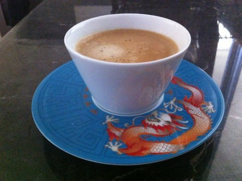 burger boy's Nespresso Kazaar coffee