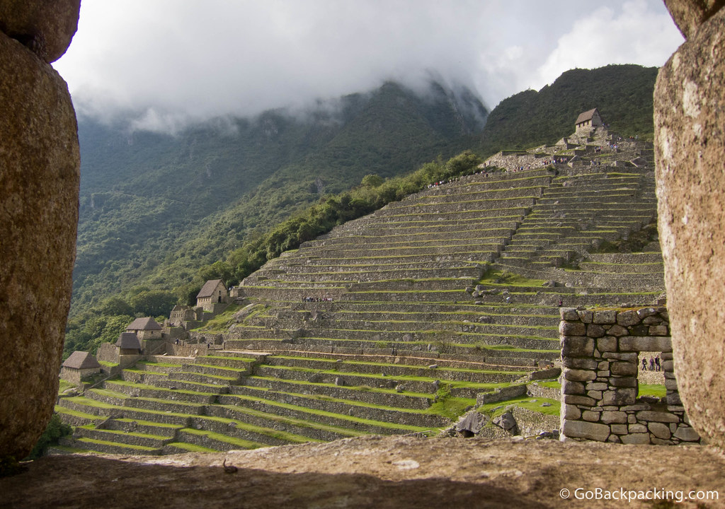 Terraces used for farming