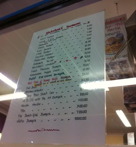 novembar's menu