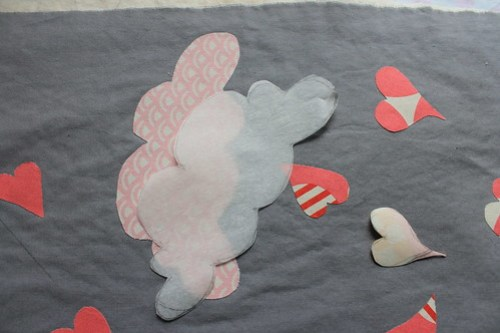 Applique of heart Quilt