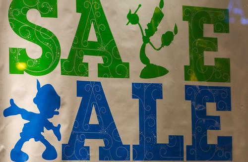 SALE, Disney Store, Michigan Avenue, Chicago, December 2011